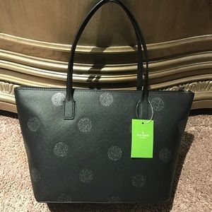 kate spade Bags - Kate Spade hani haven lane black glitter tote bag